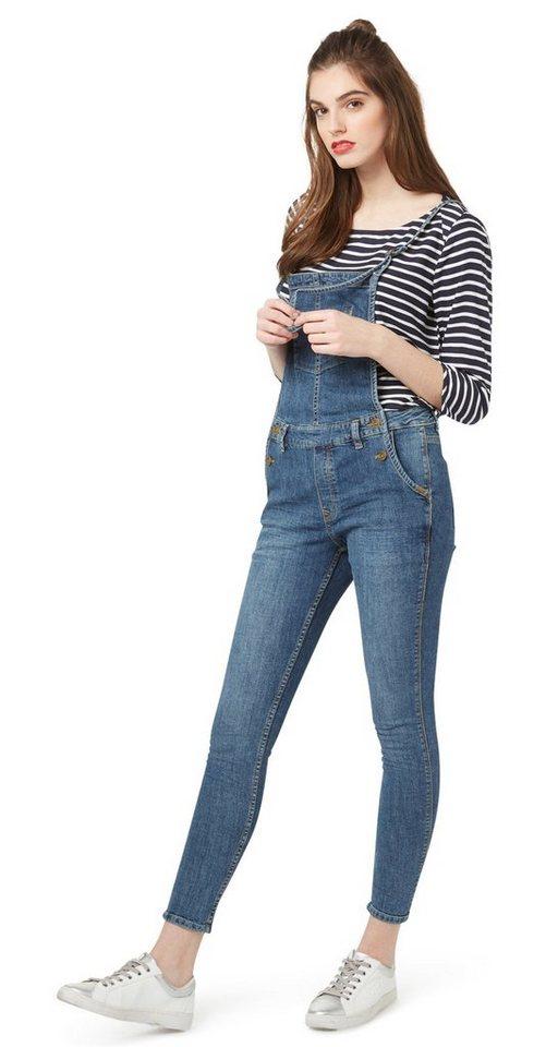 tom tailor denim 7 8 jeans latzhose dungaree slim online. Black Bedroom Furniture Sets. Home Design Ideas