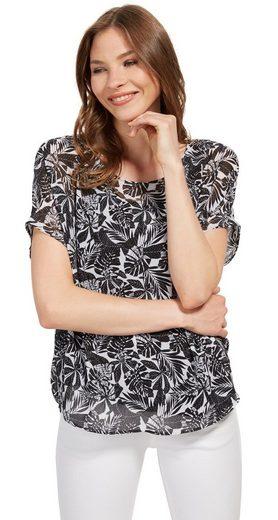 Tom Tailor Shirtbluse mit gemustertem Overlayer