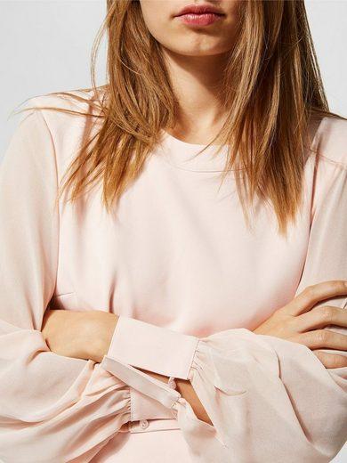 Selected Femme Mesh Kleid mit langen Ärmeln