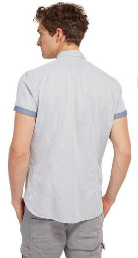 Tom Tailor Denim Kurzarmhemd im zweifarbigem Design