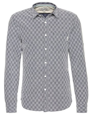 Tom Tailor Denim Langarmhemd lässiges Jacquard-Hemd