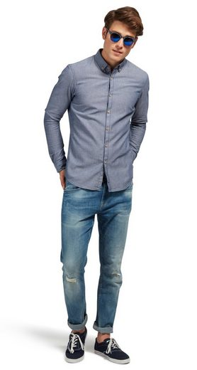 Tom Tailor Denim Langarmhemd mit feinem Muster