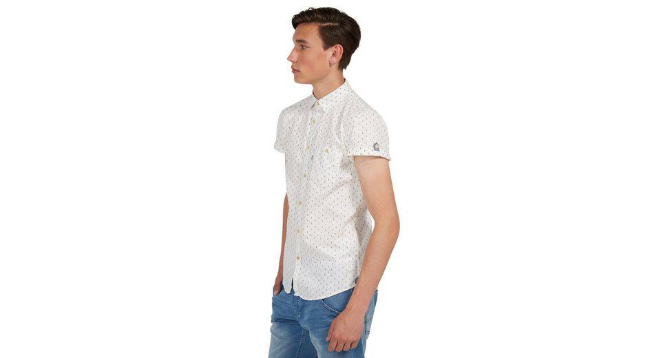 Tom Tailor Denim Kurzarmhemd mit feinem Muster Spielraum Online Offizielle Seite Rabatt Beliebt 39kW3e6