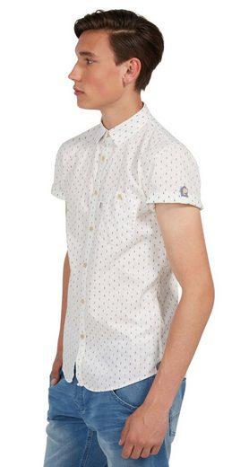 Tom Tailor Denim Kurzarmhemd mit feinem Muster
