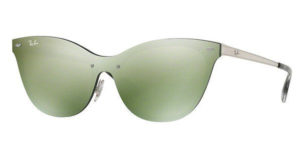 RAY BAN RAY-BAN Damen Sonnenbrille »Blaze Cat Eye RB3580N«, grün, 042/30 - grün/grün