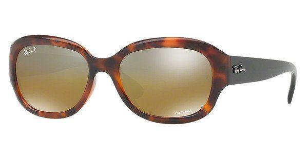 RAY BAN RAY-BAN Damen Sonnenbrille » RB4282CH«, braun, 6281A2 - braun/grau
