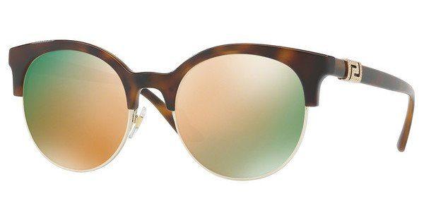 Versace Damen Sonnenbrille » VE4326B«, goldfarben, 51484Z - gold/ gold