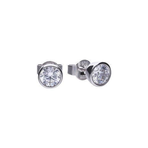 Diamonfire Ohrstecker »925/- Sterling Silber rhod. 2x Zirkonia«