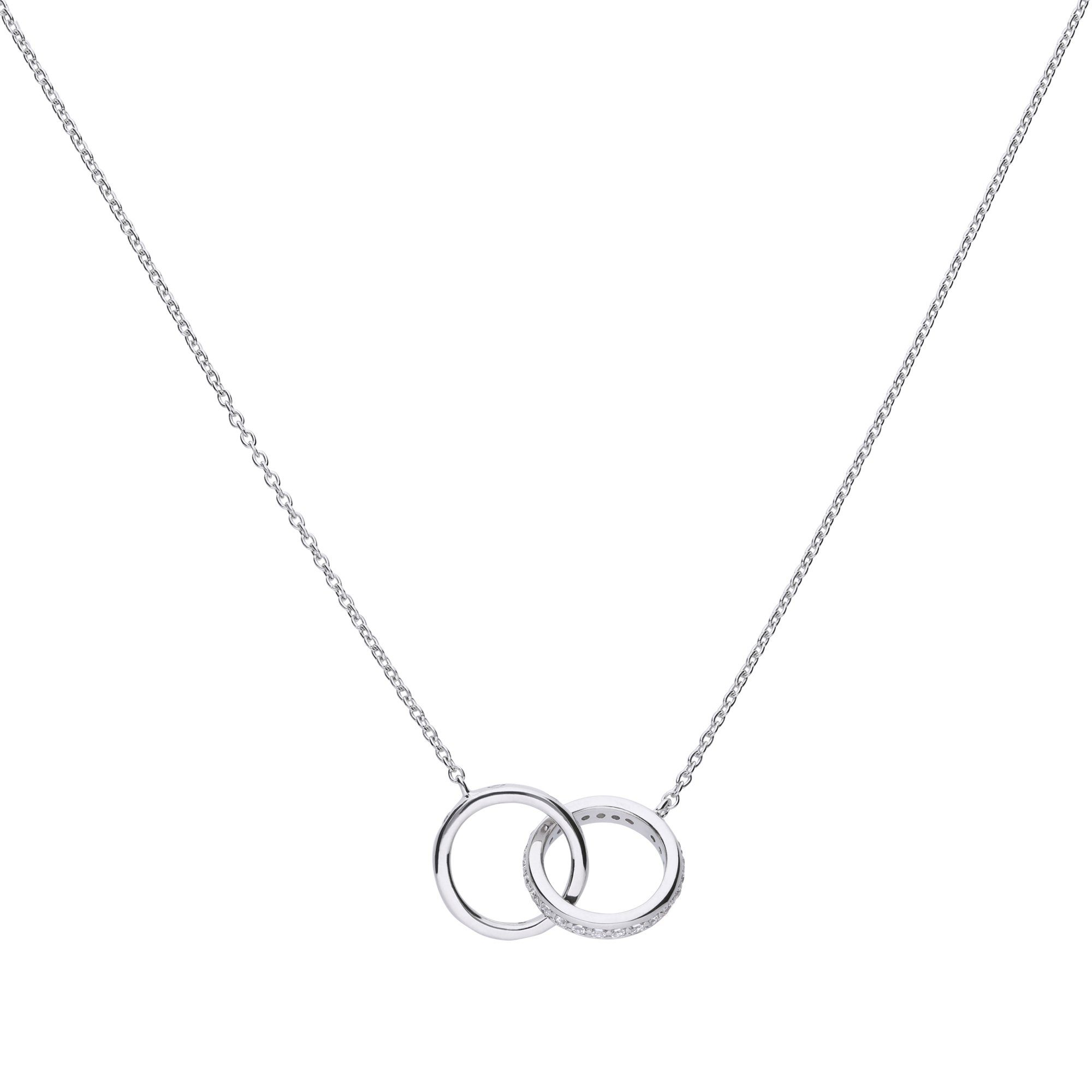 Diamonfire Collier »925/- Sterling Silber rh. Blatt 25 Zirkonia«