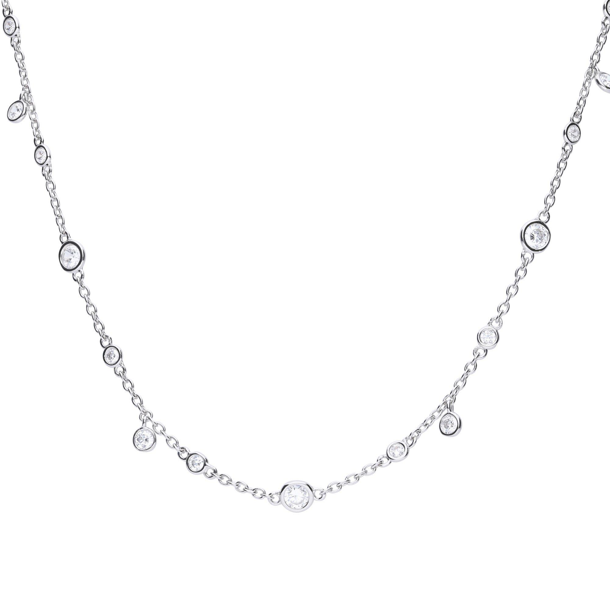 Diamonfire Collier »925/- Sterling Silber rhod. mit 13 Zirkonia«
