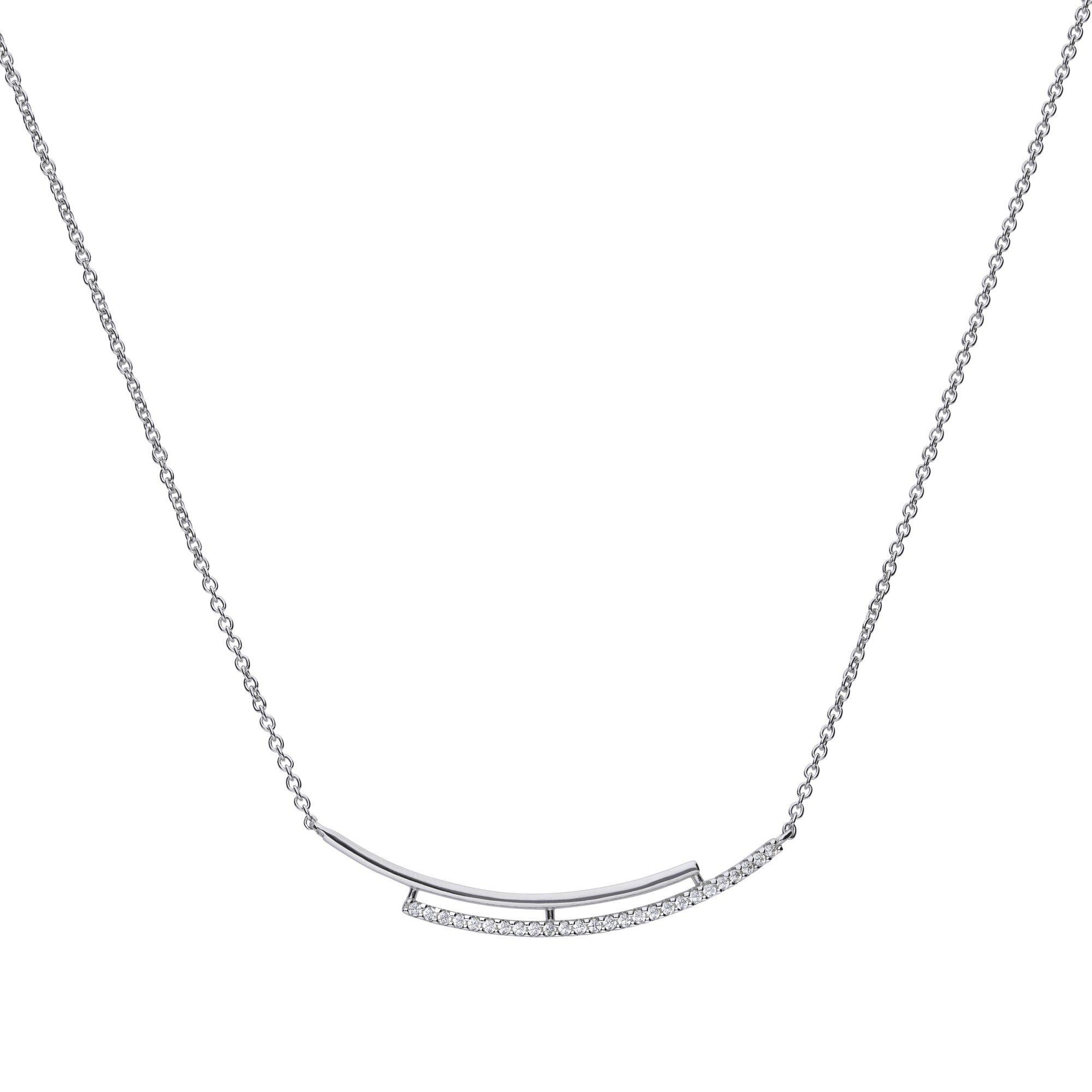 Diamonfire Collier »925/- Sterling Silber rhod mit 27x Zirkonia«