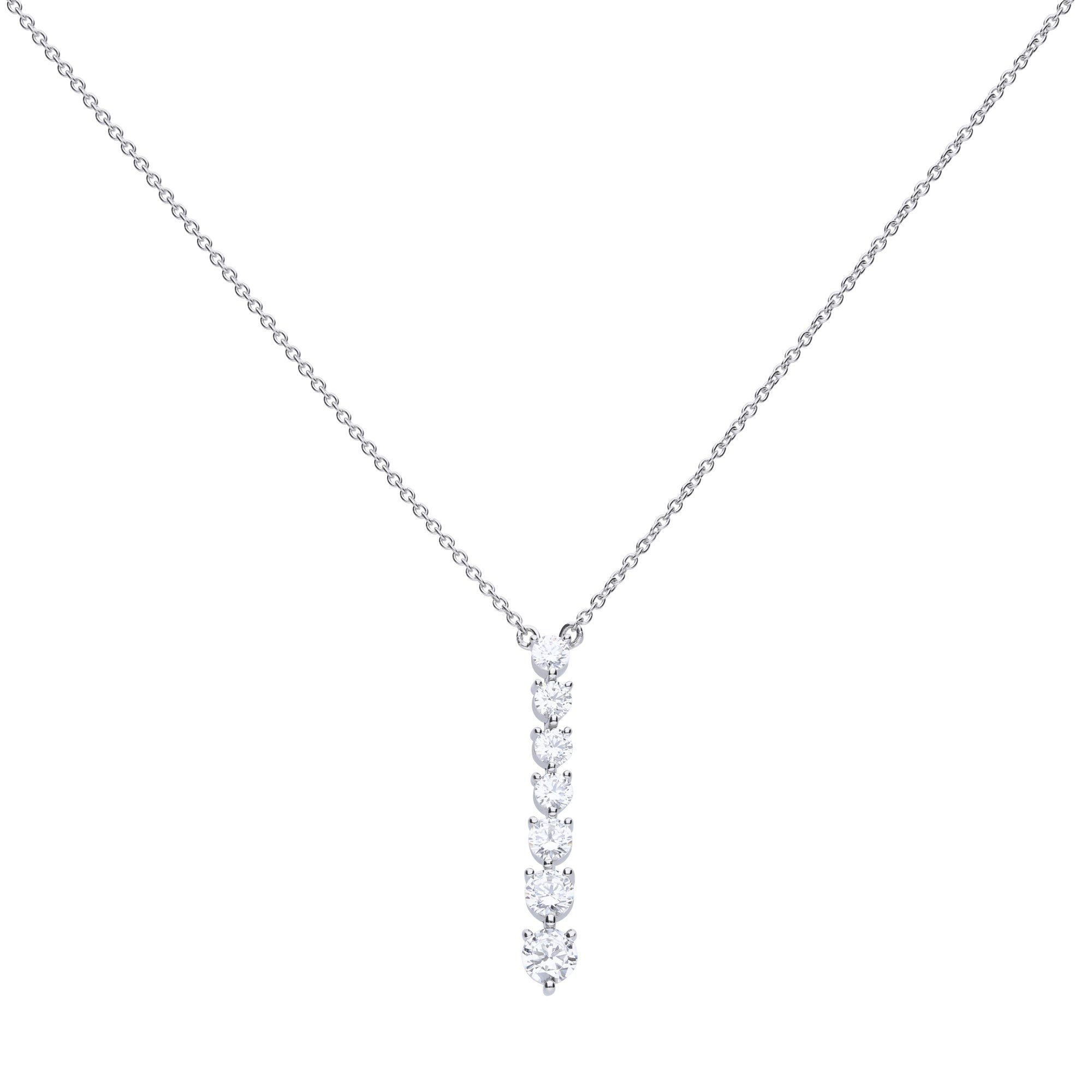 Diamonfire Collier »925/- Sterling Silber rhod. mit 7x Zirkonia«