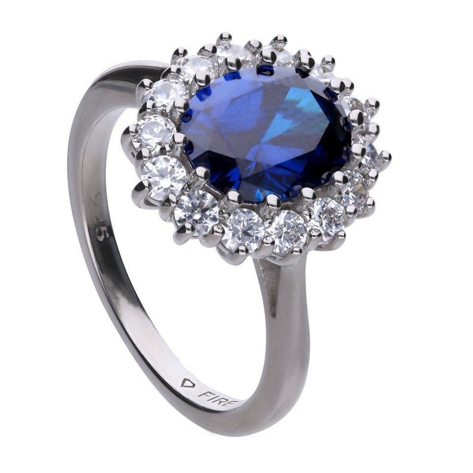 diamonfire ring 925 silber 1x blauer 15x wei e zirkonia online kaufen otto. Black Bedroom Furniture Sets. Home Design Ideas