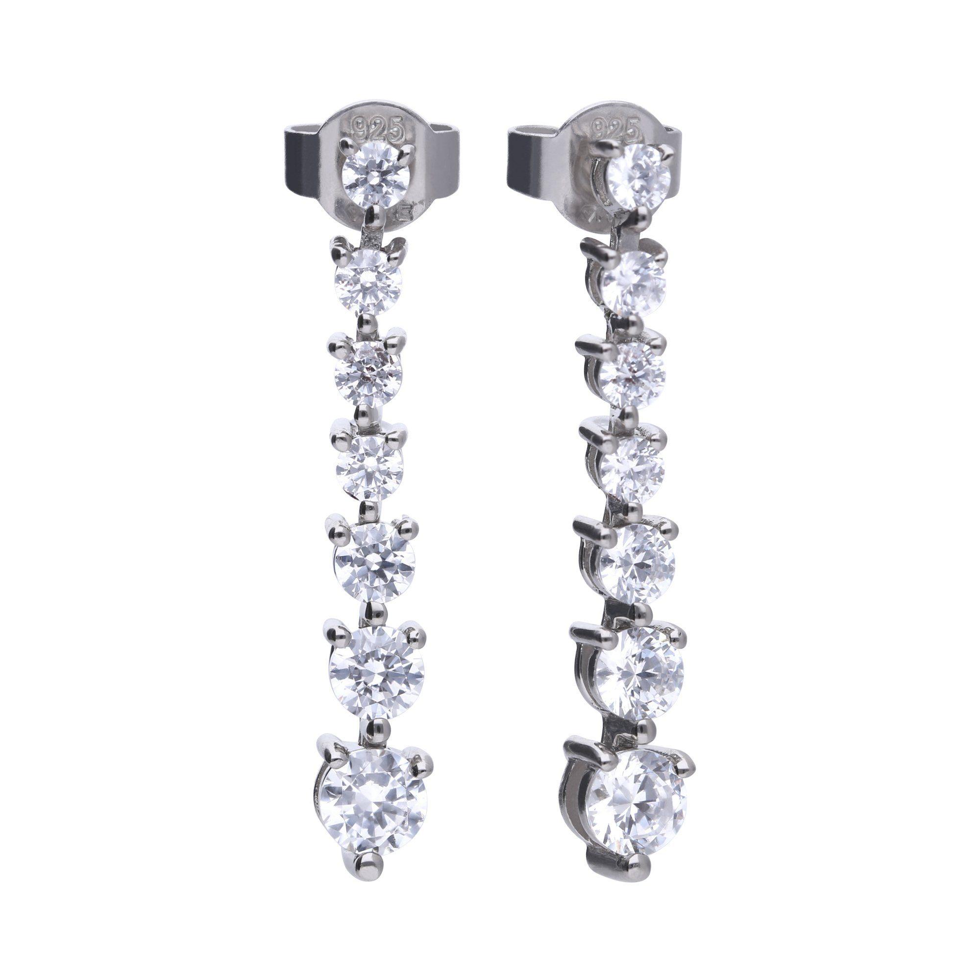 Diamonfire Ohrhänger »925/- Sterling Silber mit 14x Zirkonia«