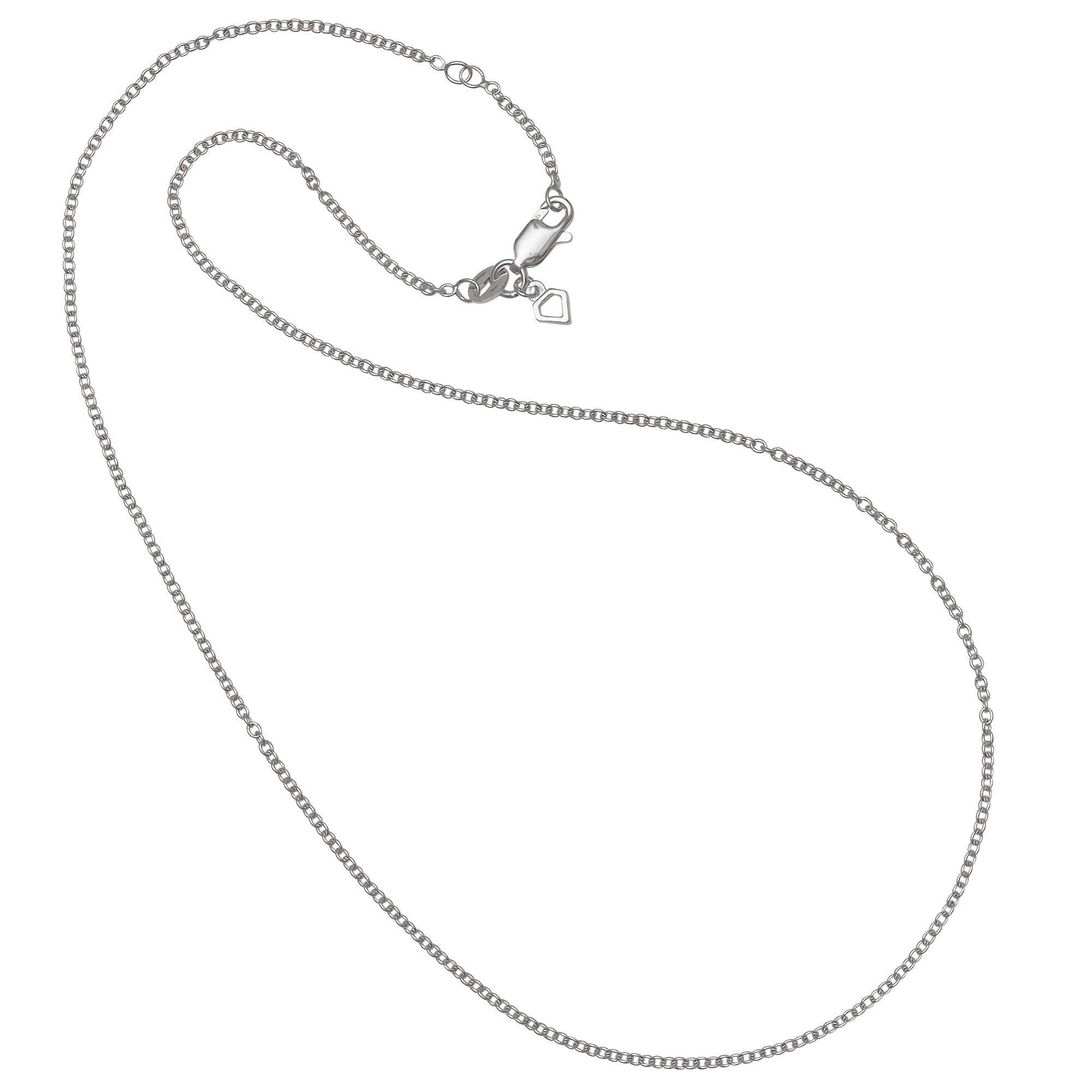 Diamonfire Kette »925/- Sterling Silber rhodiniert Ankerkette«