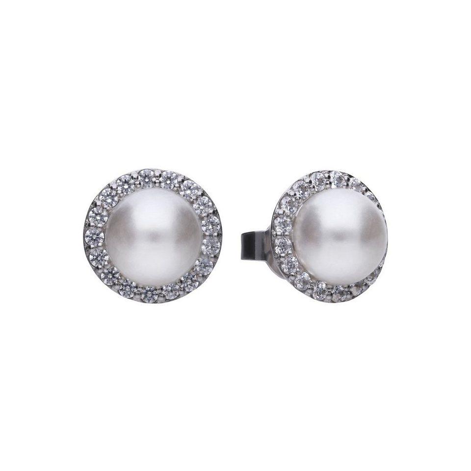 beste Seite heißer verkauf authentisch exzellente Qualität Diamonfire Ohrstecker »925 Sterling Silber Perle & 34x Zirkonia« online  kaufen | OTTO