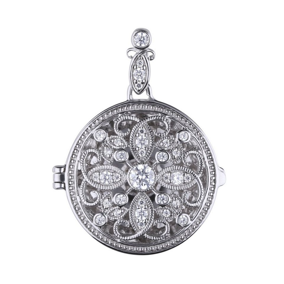 Super Diamonfire Medaillon »925 Sterling Silber Medaillon 33x Zirkonia #GL_57