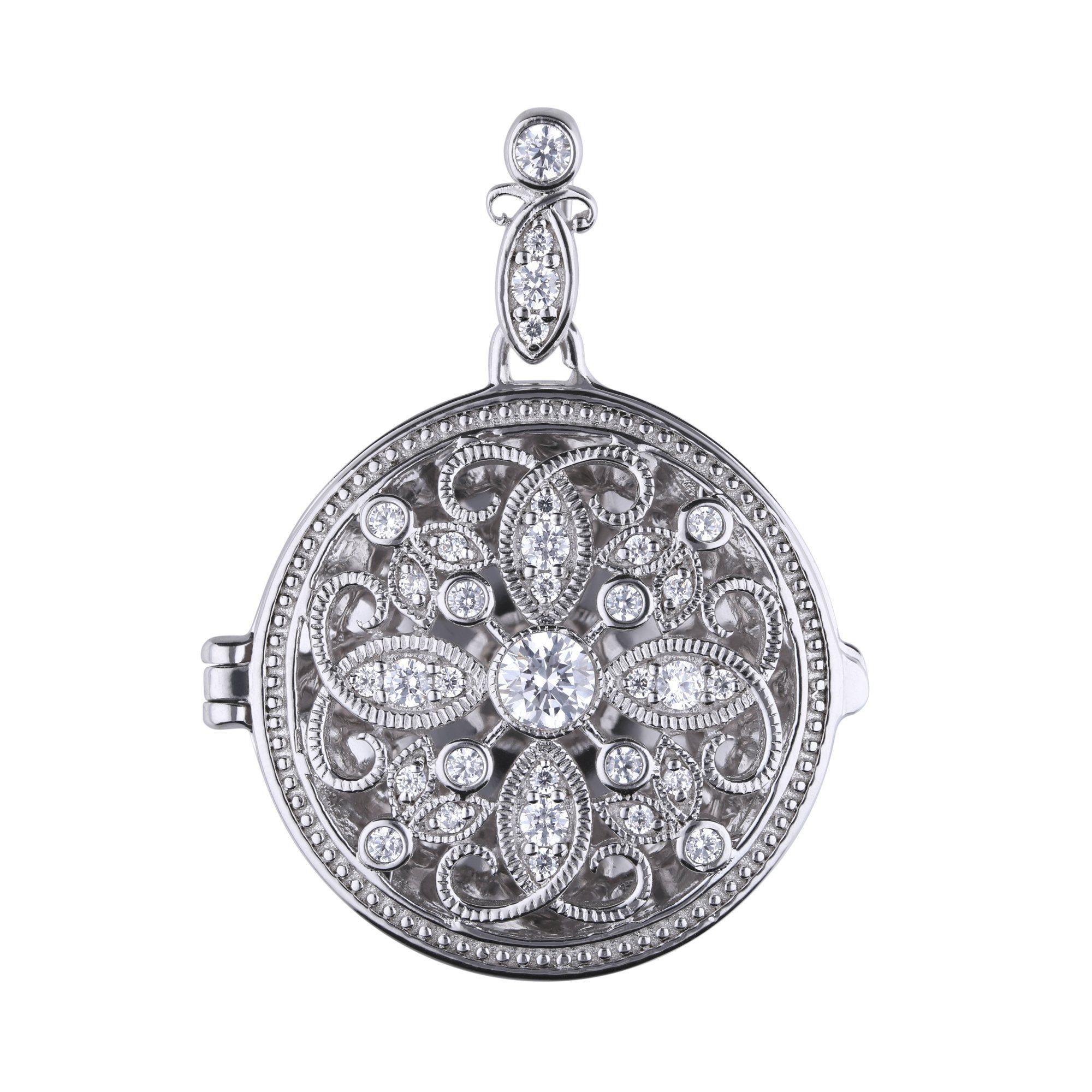 Diamonfire Medaillon »925 Sterling Silber Medaillon 33x Zirkonia«
