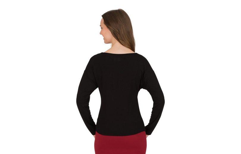 TRIGEMA Langarmshirt mit Bindeknoten Günstig Kaufen Angebote gOEMg7liw