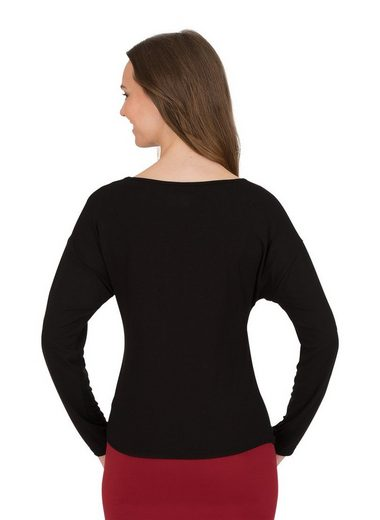 TRIGEMA Langarmshirt mit Bindeknoten