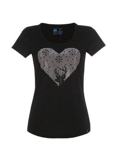 TRIGEMA T-Shirt mit Glitzerherz