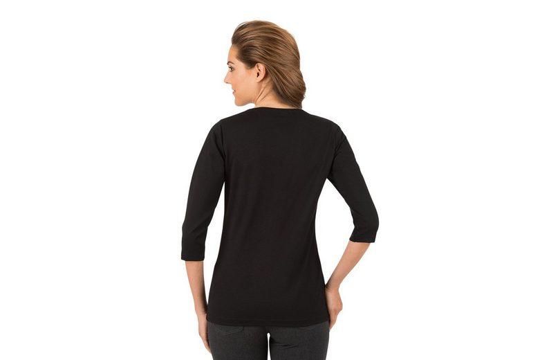 TRIGEMA 3/4 Arm Shirt mit Glitzersteinen Werksverkauf o0WrBYv8M