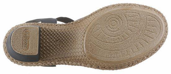 Rieker Sandalette, mit Blütenverzierung