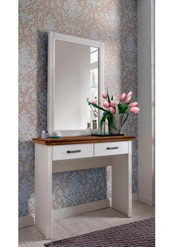 Premium collection by Home affaire Spiegel Laguna, ideal für den Schminktisch aus dieser Serie, mit Rahmen weiß |
