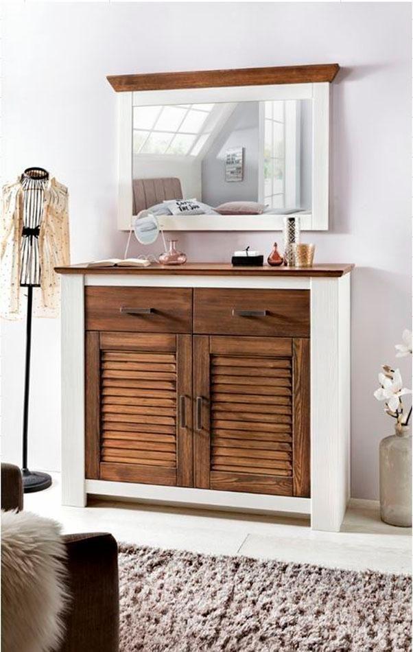 Premium collection by Home affaire Spiegel Laguna  mit hübscher Kranzleiste weiß | 05901348059499