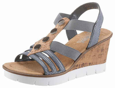 Rieker Sandalette, mit Metallic-Applikation