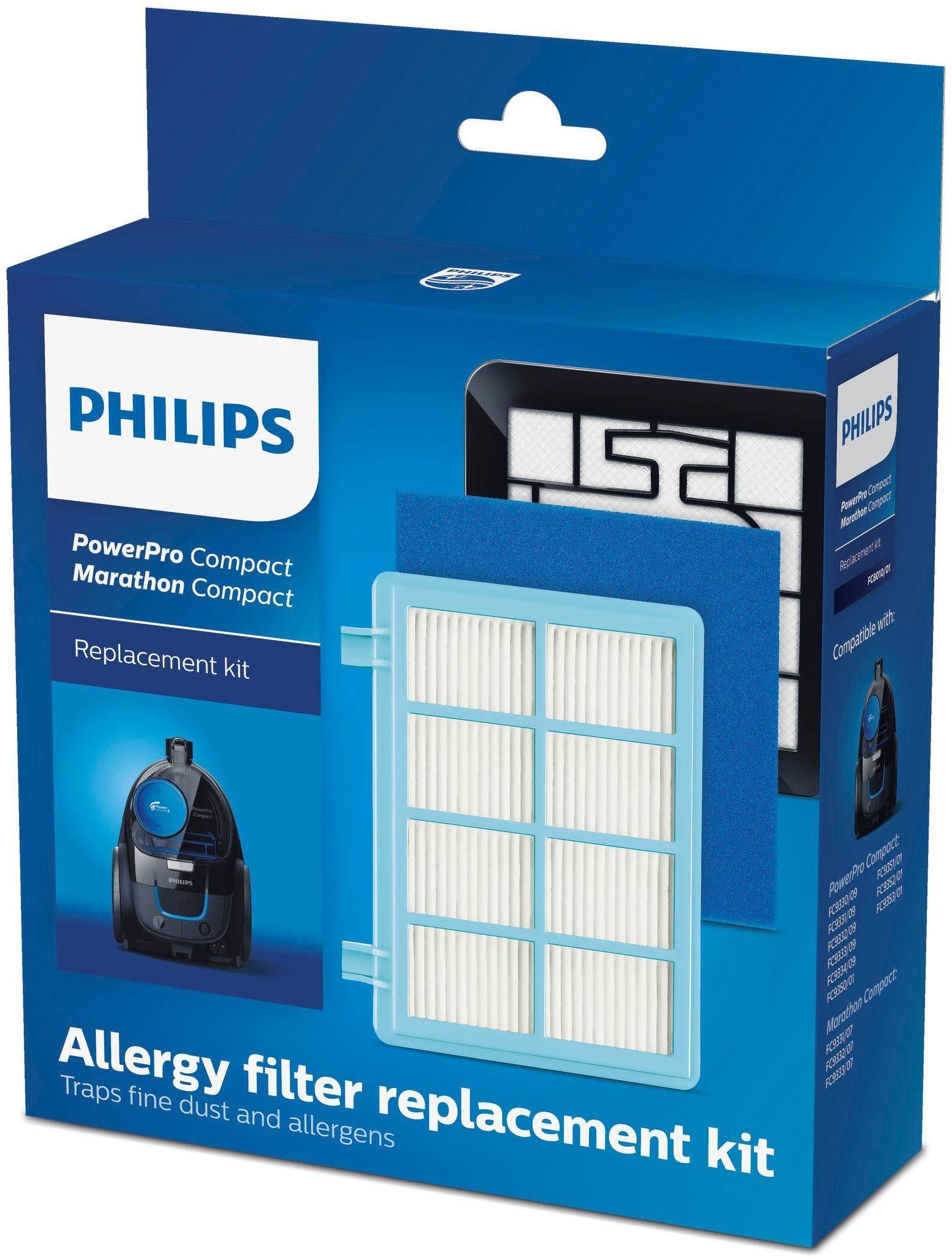 Philips Staubsauger Filter-Set FC8010/01 PowerPro Compact