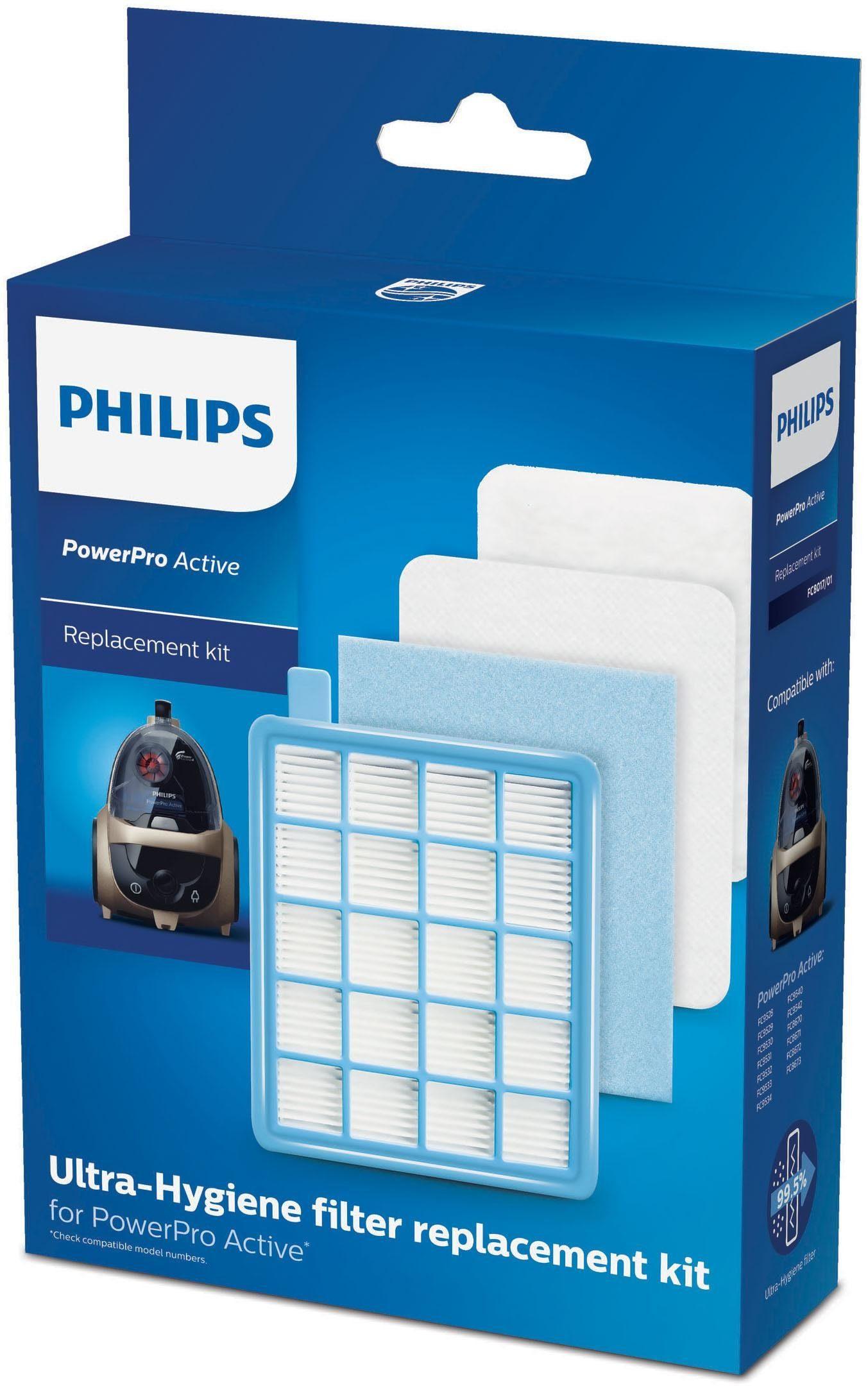 Philips Staubsauger Filter-Set FC8017/01 PowerPro Active