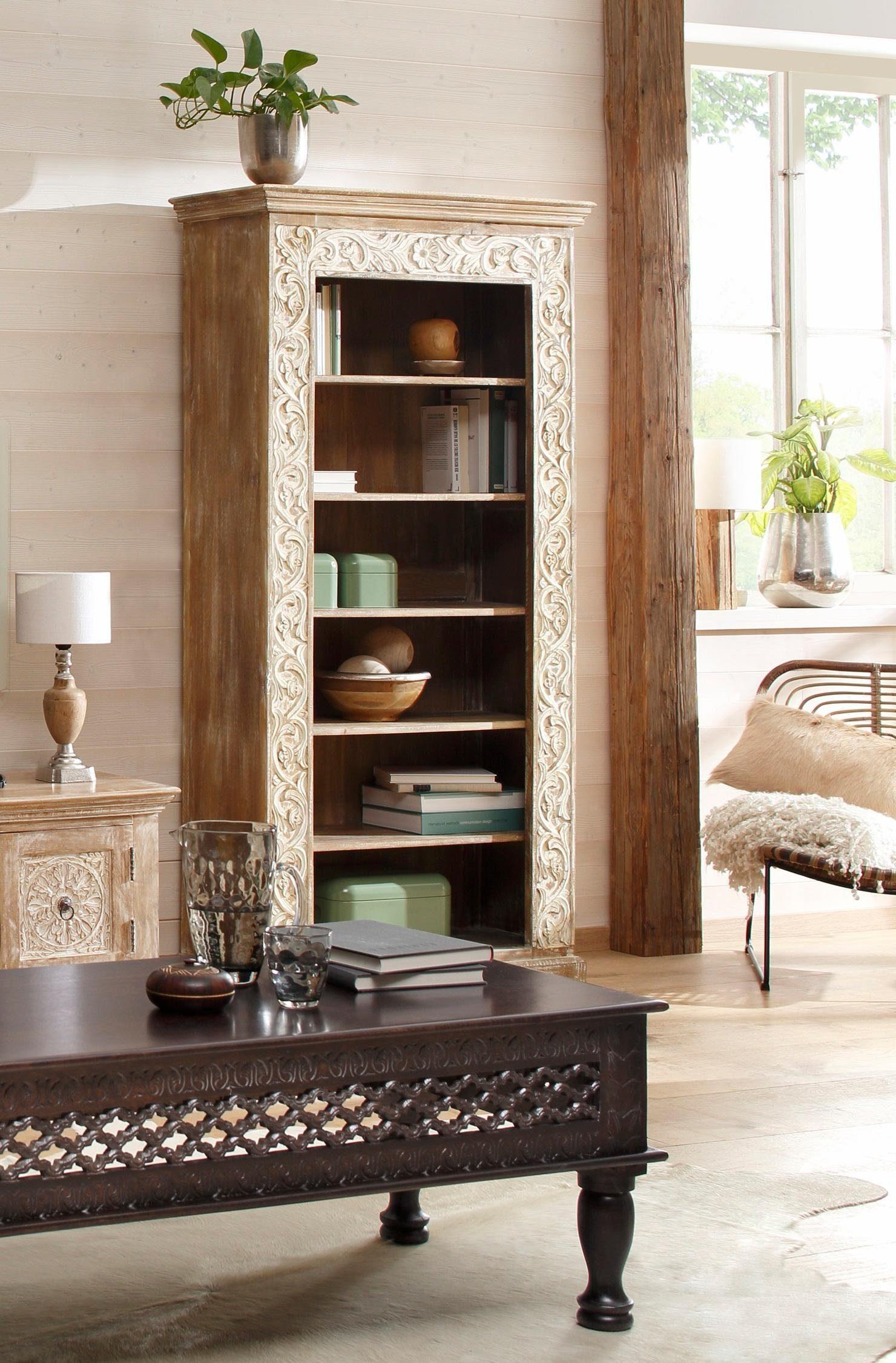 Home affaire Regal »Malati«, mit dekorativen Fräsungen, Höhe 180 cm