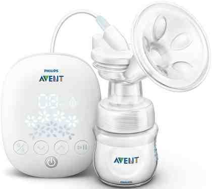 Philips Avent Elektrische Komfort-Milchpumpe SCF301/02, mit Naturnah-Flasche