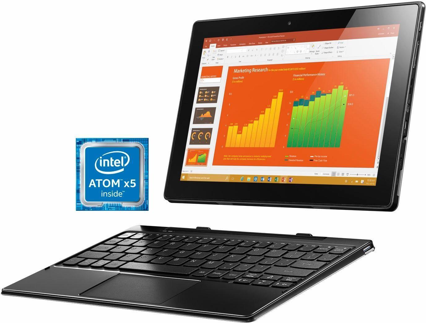 Lenovo Miix 310-10ICR 2 GB Tablet-PC, Microsoft® Windows® 10 Home, 25,7 cm (10,1 Zoll)