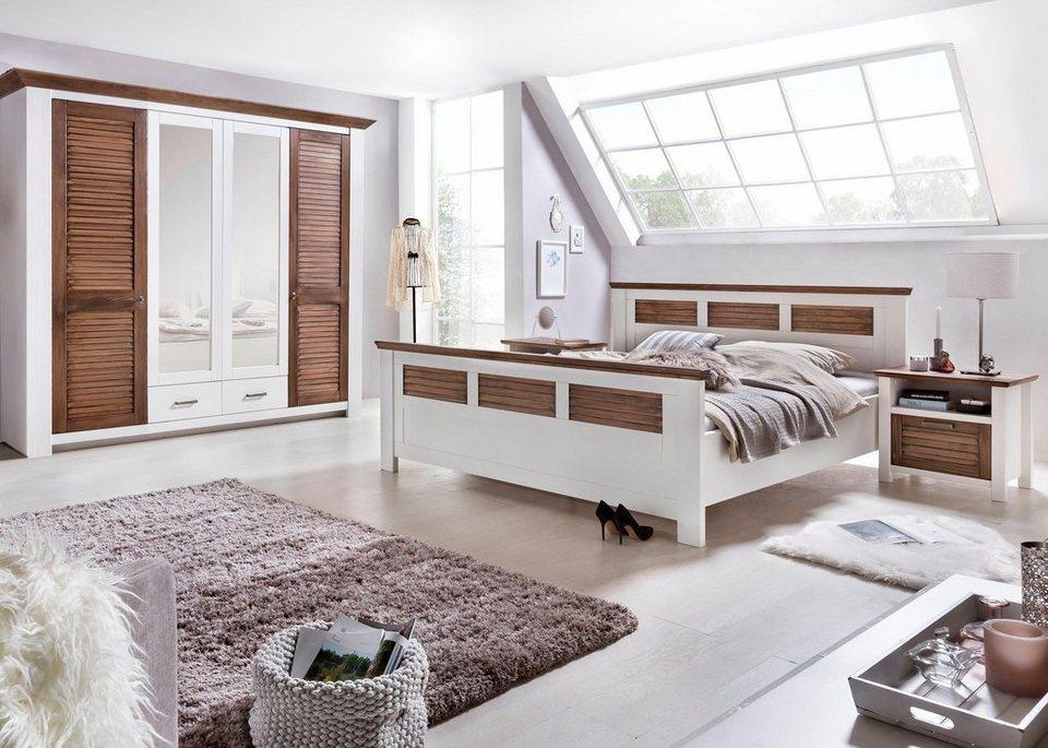 Premium collection by Home affaire Schlafzimmer-Set »Laguna«, bestehend aus  Bett 180 cm, 2 Nachttischen und 4-türigem Schrank online kaufen | OTTO