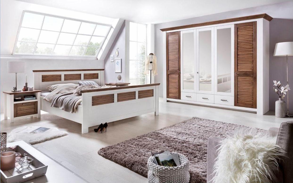 Home affaire Schlafzimmer-Set »Laguna« (4-tlg.), mit Lamellentüren