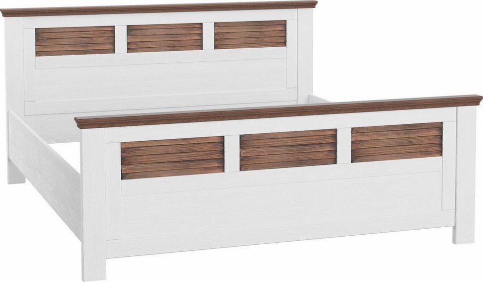 home affaire bett laguna mit lamellen in kopf und fu teil in verschiedenen breiten online. Black Bedroom Furniture Sets. Home Design Ideas
