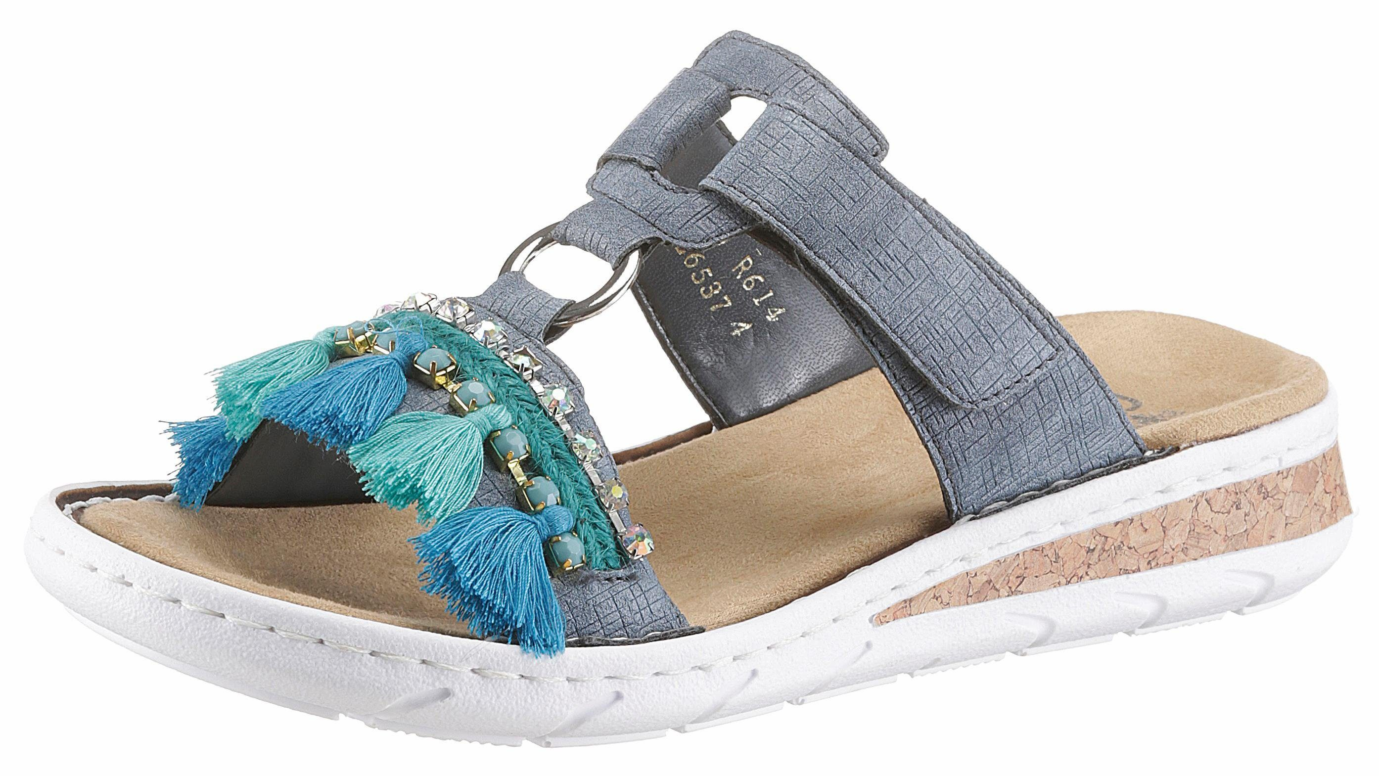 Rieker Pantolette, im Ethno-Look online kaufen  jeansblau