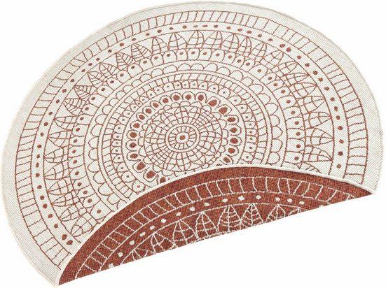 Teppich »Porto«, bougari, rund, Höhe 5 mm, In- und Outdoor geeignet, Wendeteppich