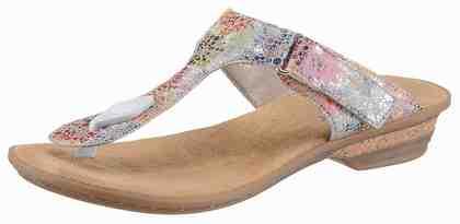 Rieker Pantolette, mit Blütendruck