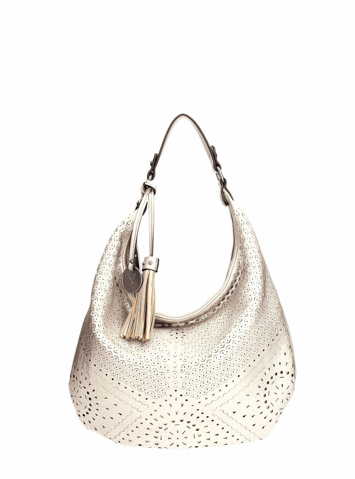 SURI FREY Hobo »MAY«, mit schöner Perforation und Metallic Optik