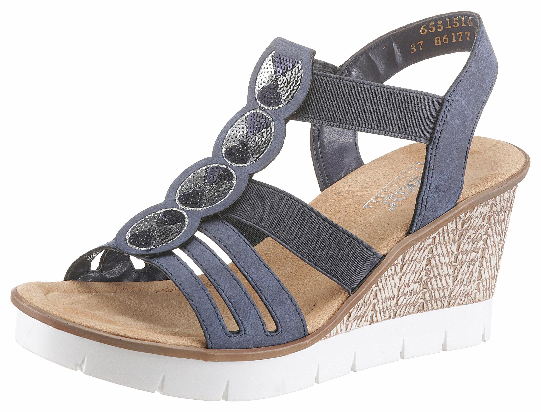 Rieker Sandalette, mit Pailletten online kaufen  dunkelblau