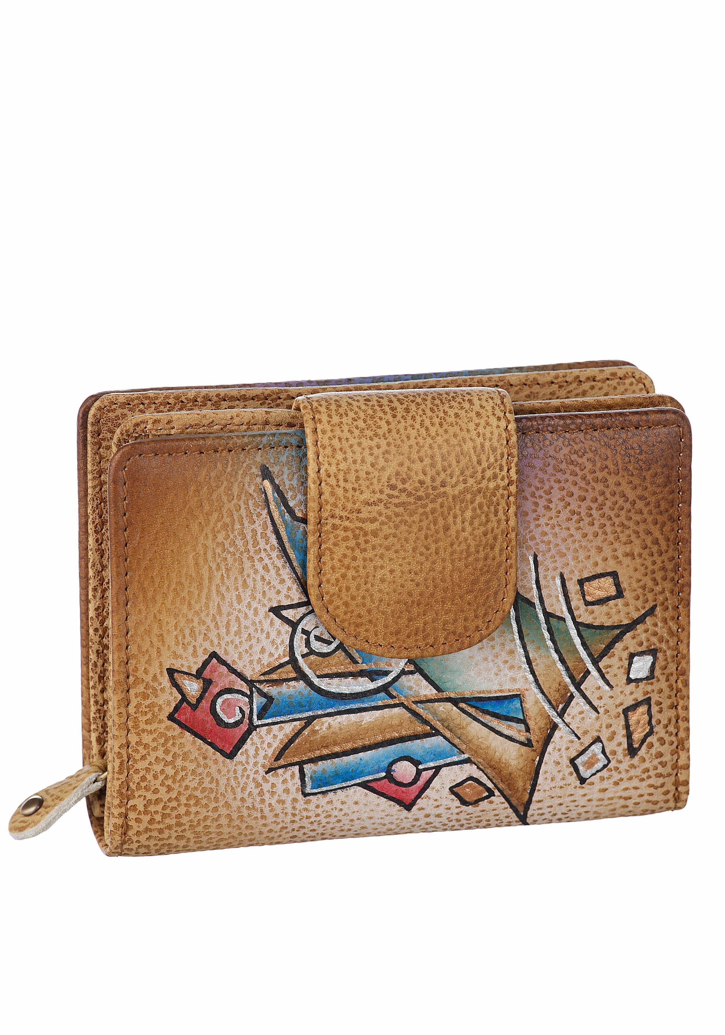 Art & Craft Geldbörse, aus Leder mit praktischer Einteilung