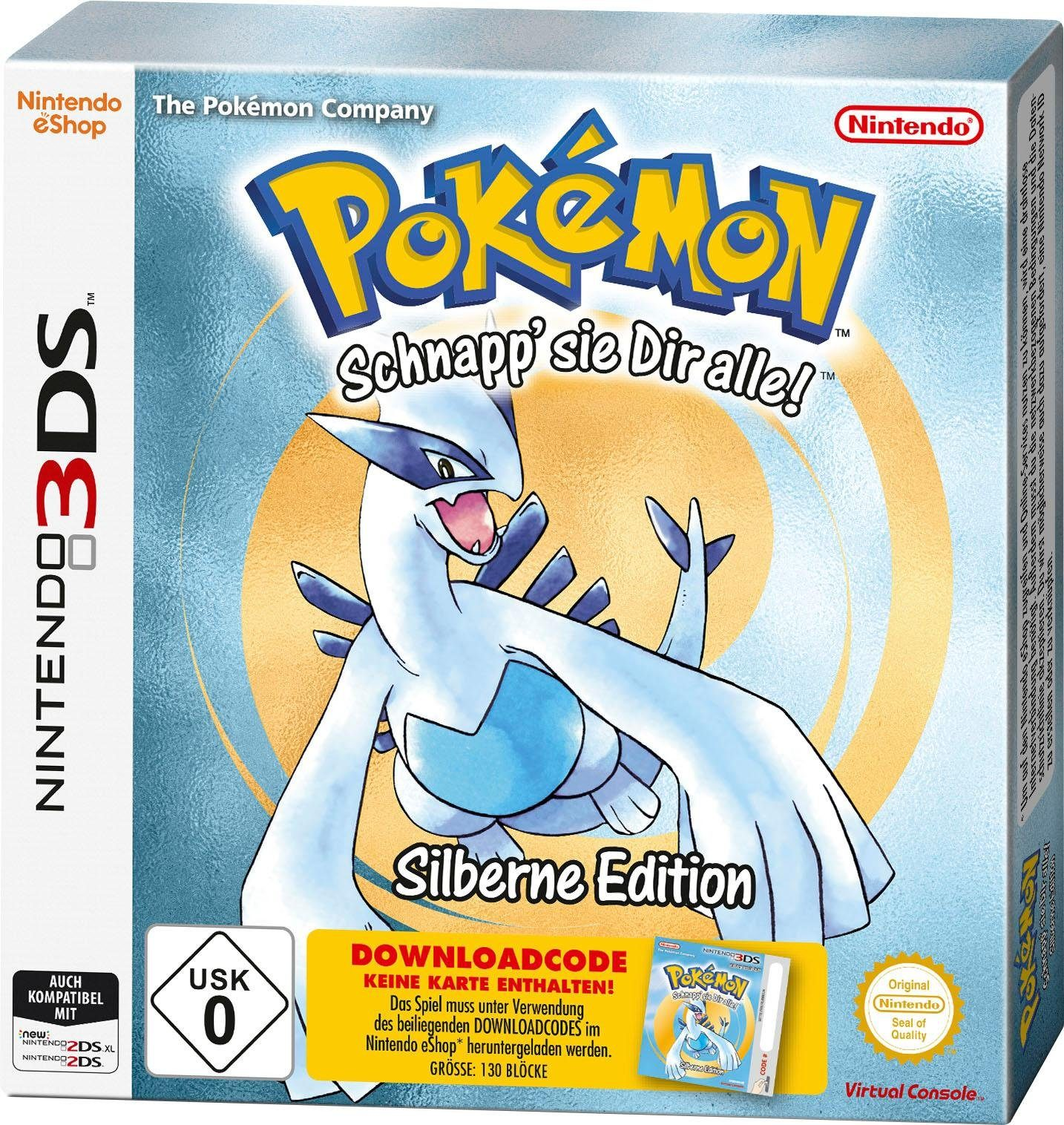 Pokémon Silber (Code in the Box) Nintendo 3DS
