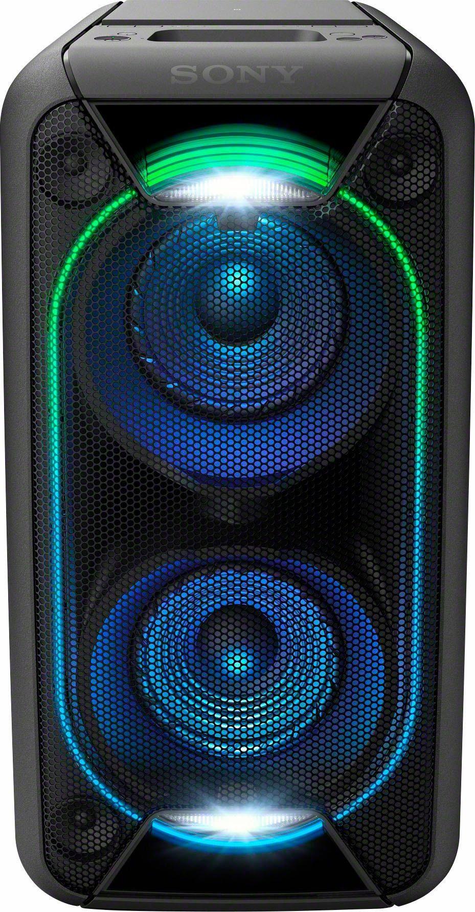 Sony GTK-XB90, Leistungsstarkes One Box Soundsystem (Extra Bass, Bluetooth, NFC, USB, Lichteffekte, 16 Stunden Akkulaufzeit)