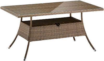 Gartentisch ausziehbar rattan  Gartentisch online kaufen » Holz, Alu & Metall | OTTO