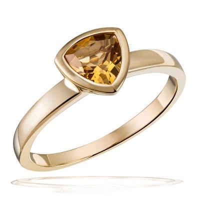 goldmaid Damenring 375/- Gelbgold 1 Citrin