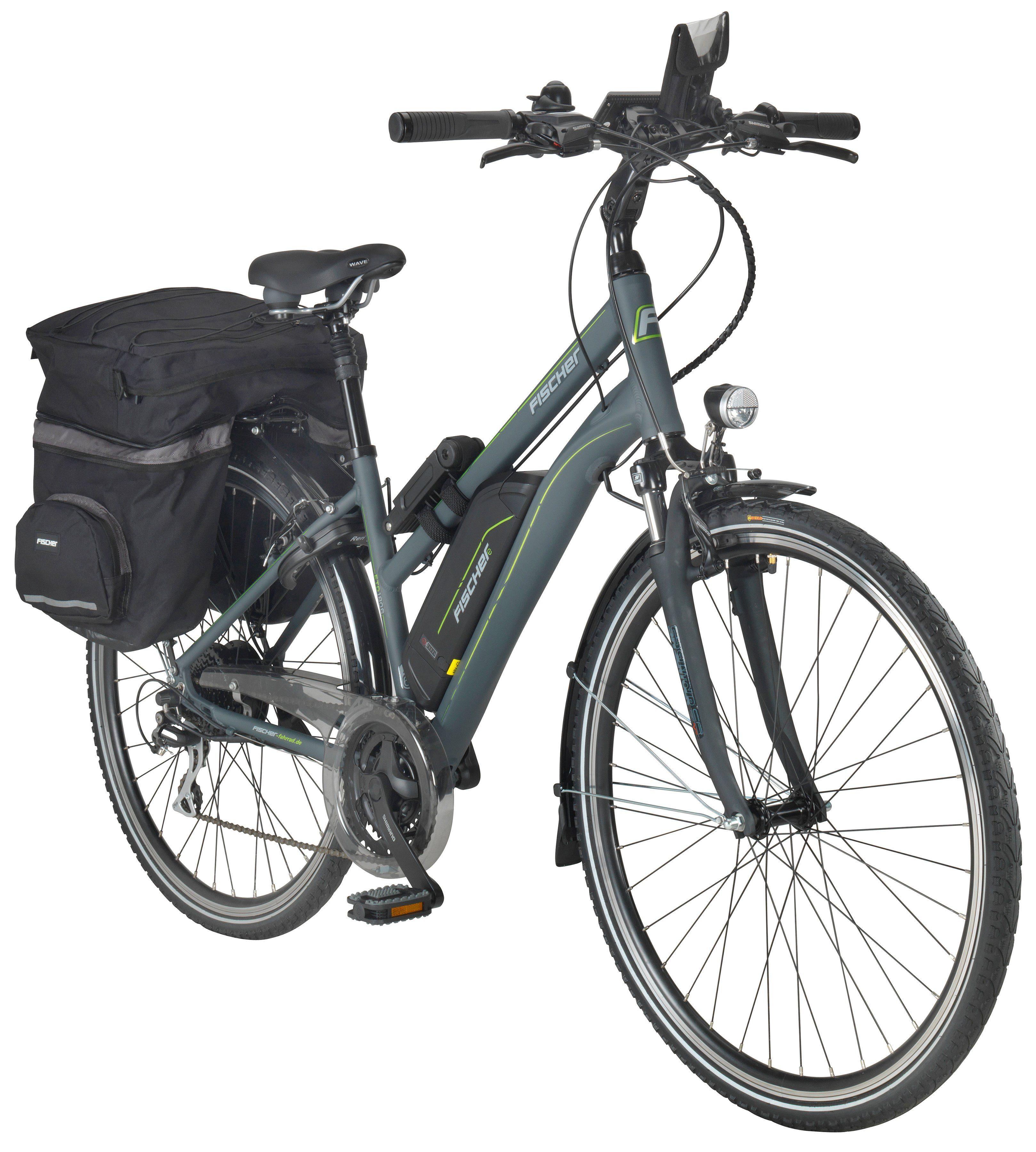 FISCHER FAHRRAEDER E-Bike Trekking Damen »ETD1806«, 71,12 cm (28 Zoll), 24 Gänge, 422 Wh, Heckmotor