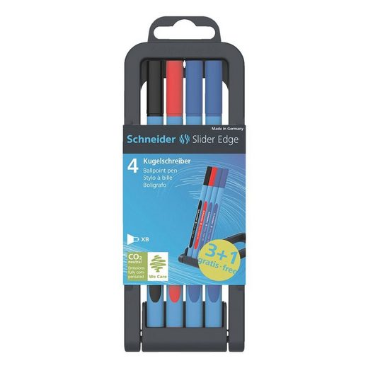 SCHNEIDER 3+1-Pack 152271 schwarz, rot, blau »Slider Edge XB«